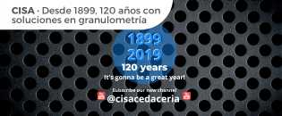 CISA 120 años con soluciones en granulometria