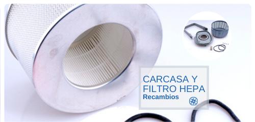 Carcasa y filtro HEPA CISA SIEVING TECHNOLOGIES