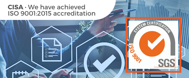 We have achieved ISO 9001:2015 accreditation